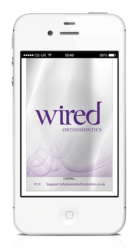 Wired Orthodontics Reference Mobile App Loading Screen