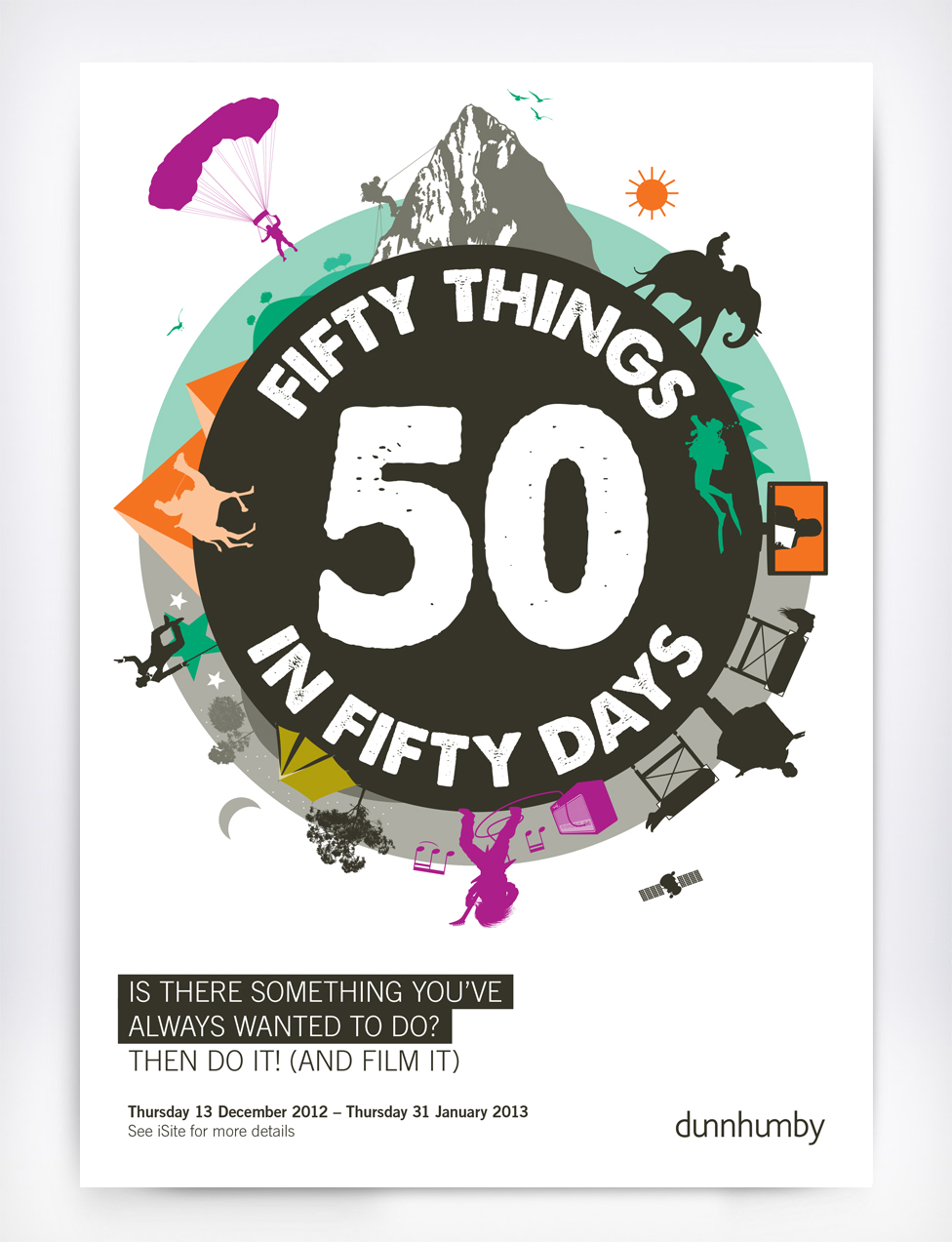 50 Things in 50 Days Poster