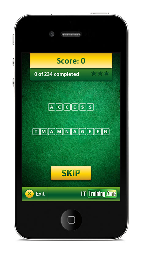ITIL Training Anagram App Game Screen 1