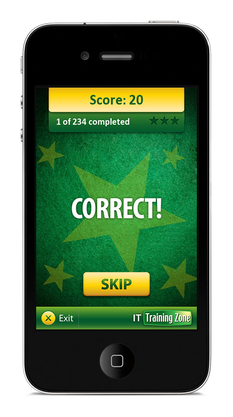 ITIL Training Anagram App Game Screen 2