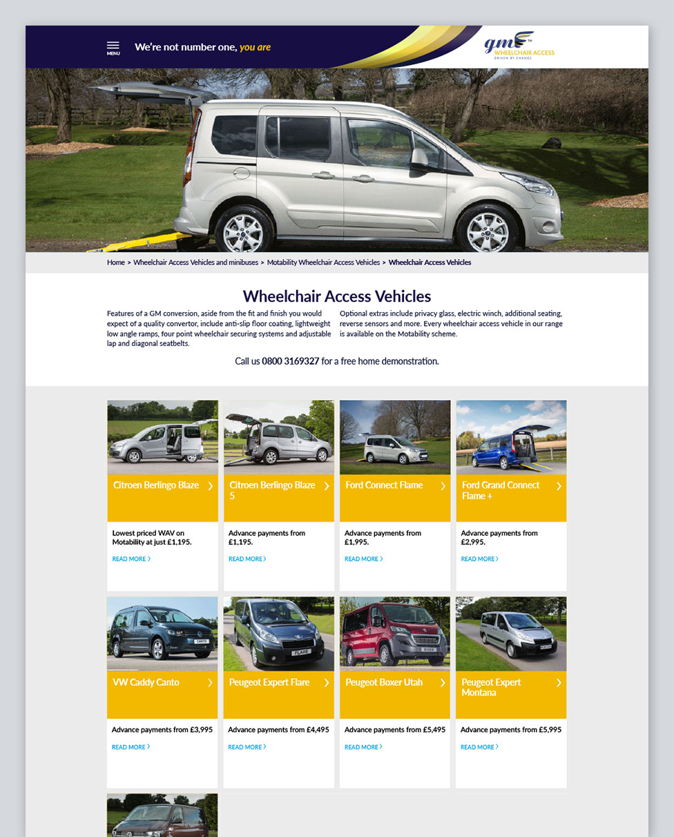 GM Wheelchair Access Vehicles Page