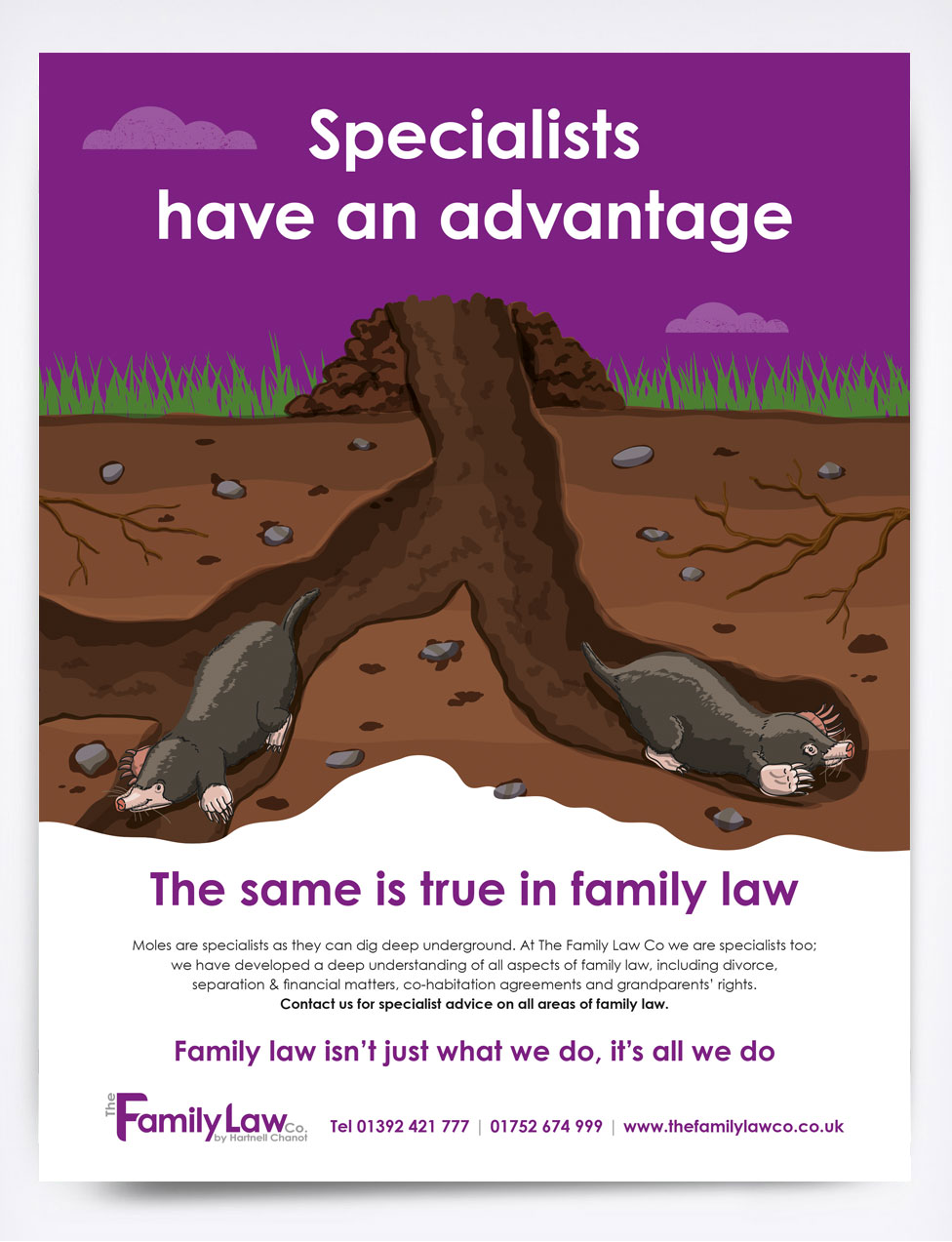The Family Law Co Moles Advert